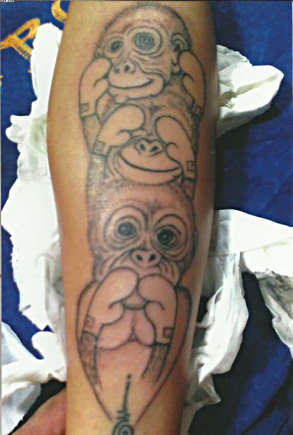 Three Wise Monkeys Tattoo Art