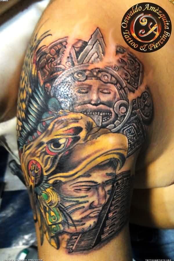 Tremendous Designs Of Aztec Tattoo