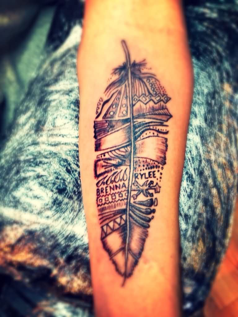 Tribal Feather Tattoo