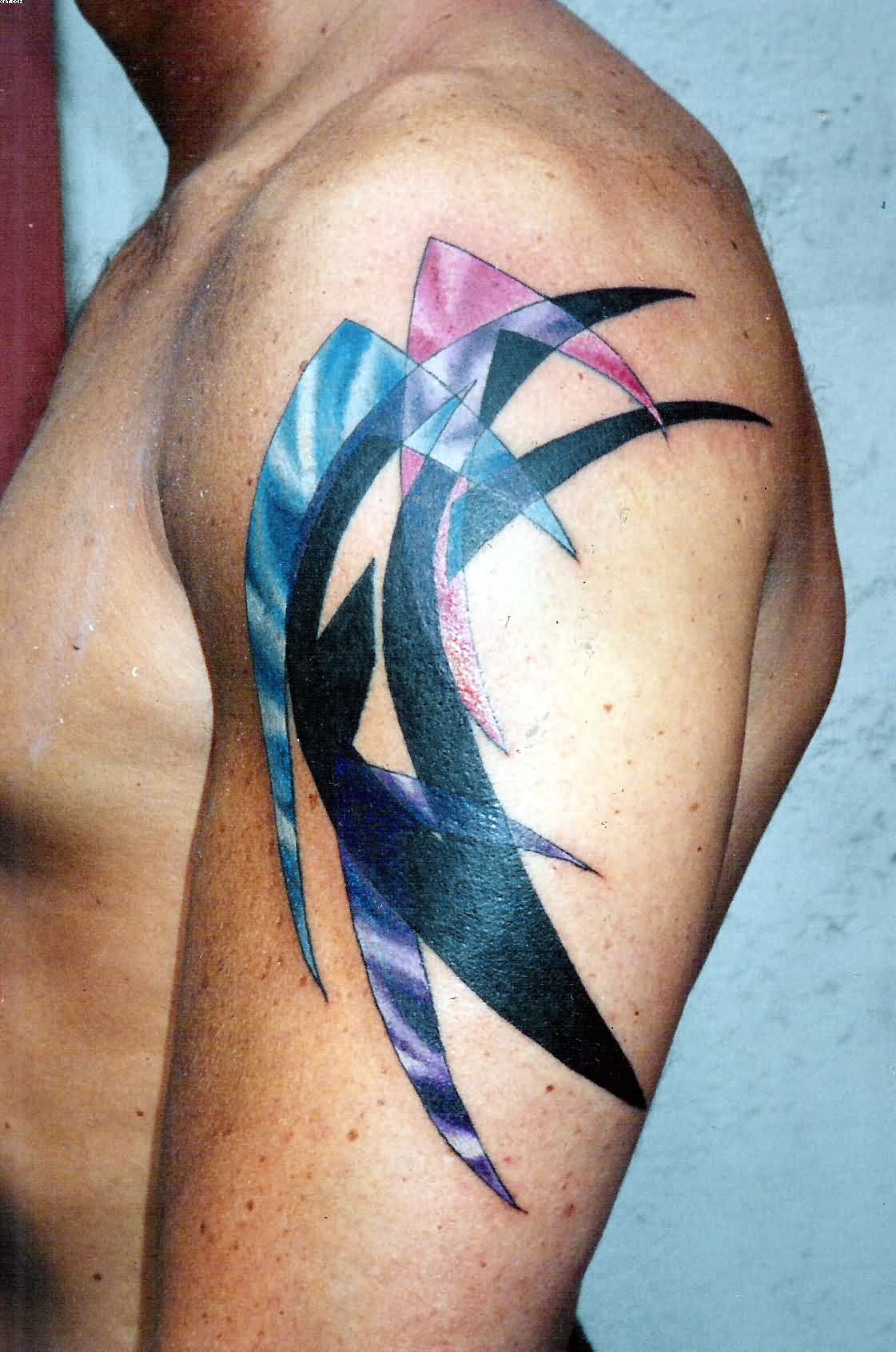 Upper Arm Abstract Tattoo Design