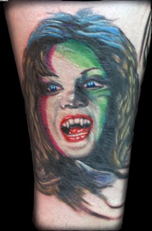 Vampire Horror Tattoo