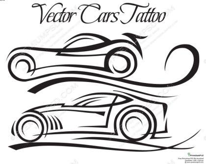 Vector Cars Tattoo