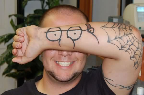 Very Funny Tattoo On Arm