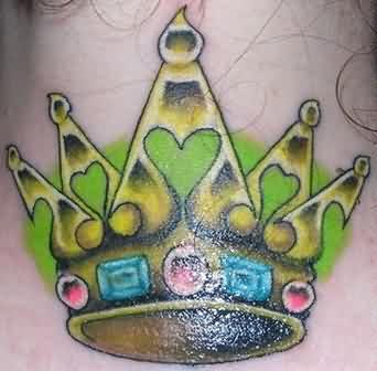 Vibrant Crown Tattoo