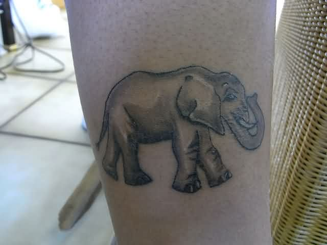 Walking Elephant Tattoo