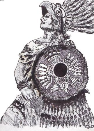 Warrior Aztec Tattoo Sample