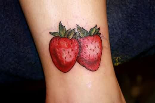 Wonderful Strawberry Tattoos