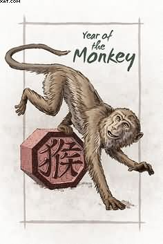 Year Of The Monkey Tattoo Design