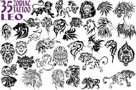 35 Leo Zodiac Tattoo Designs