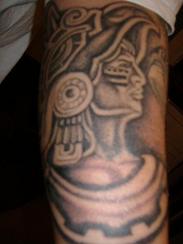 Amazing Aztec Warrior Tattoo