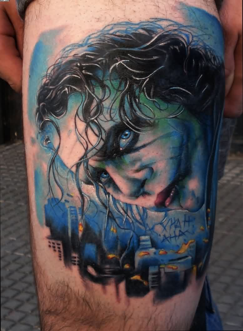 Amazing Joker Portrait Tattoo
