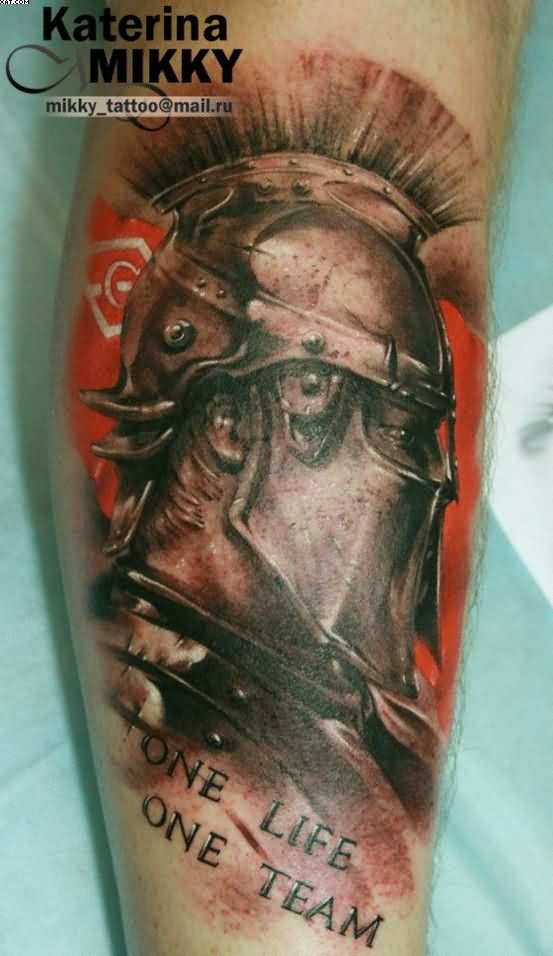 Amazing Realism Warrior Tattoo