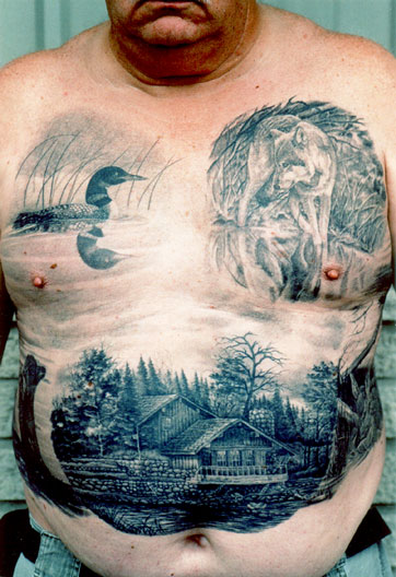 Amazing Wildlife Tattoos On Front Body