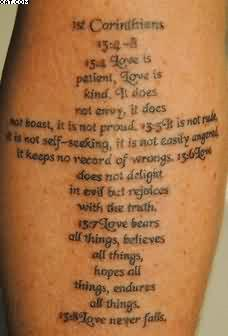 Amazing Wording Tattoo On Arm