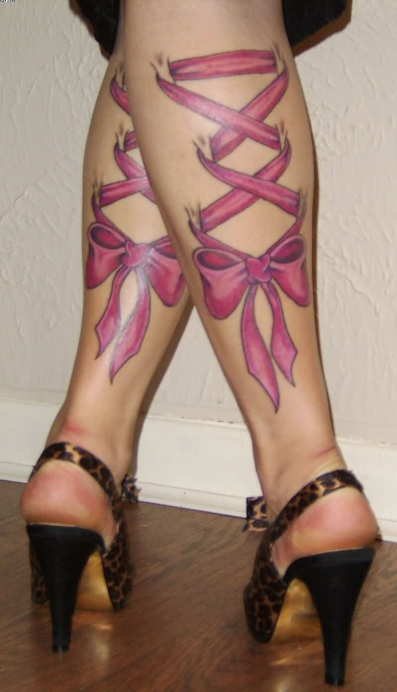 Back Legs Corset Tattoos For Girls