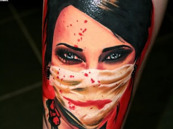 Beautiful Eyes Zombie Tattoo