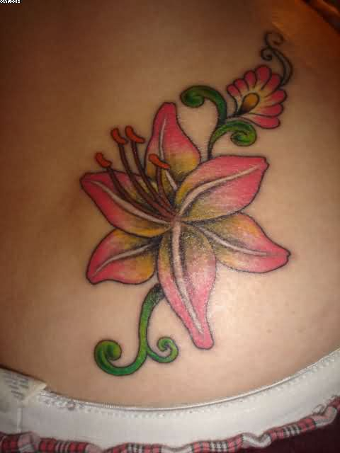 Beautiful Lily Flower Tattoo For Girls