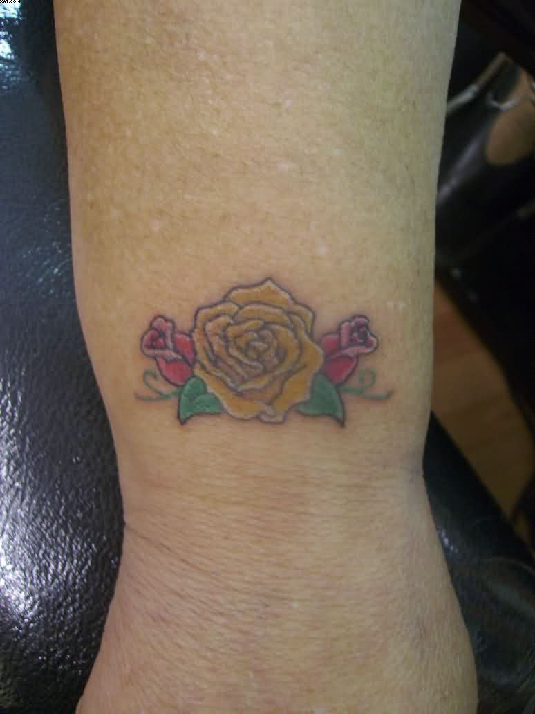 Beautiful Rose Wrist Tattoo
