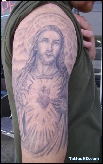 Beckham Jesus Tattoo On Right Arm
