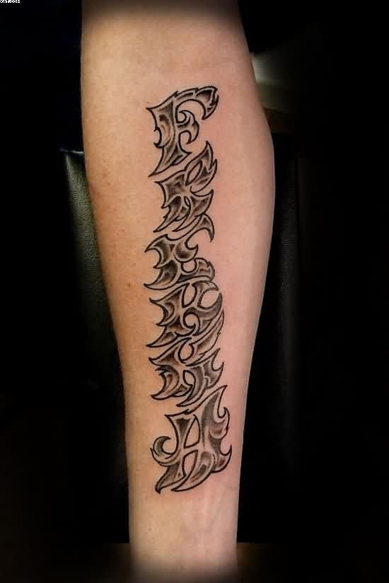 Best Lettering Tattoo