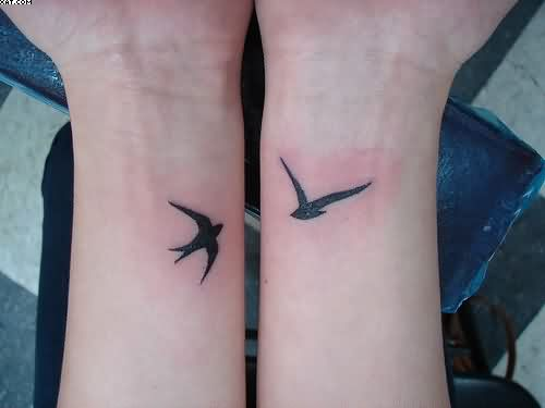 Birds Tattoos On Wrist