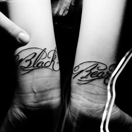Black Bear Wrist Tattoos