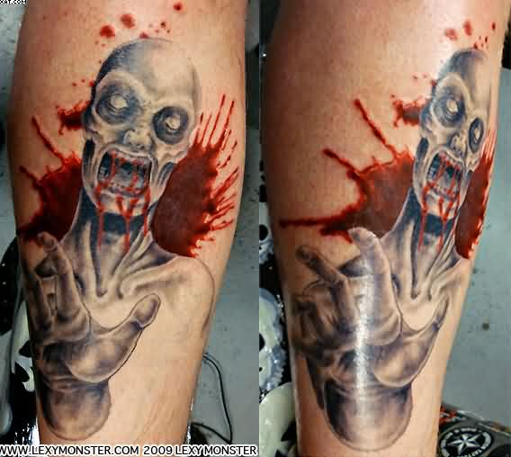 Bloody Zombie Tattoos