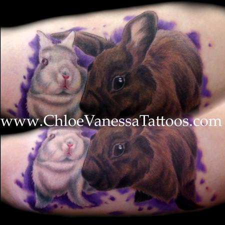 Bunny Rabbit White Brown Pet Portrait Wildlife Tattoos