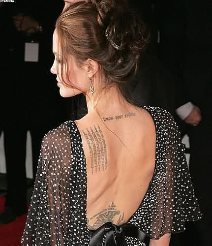 Celebrity Women Tattoos