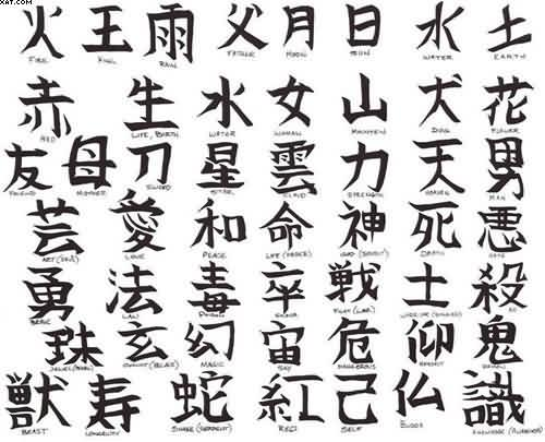 Tattoo Design More Chinese Words Designs