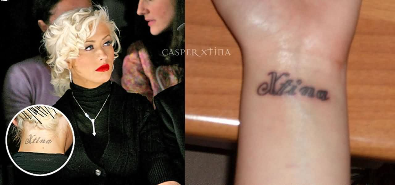 Christina Aguilera Women Celebrity Tattoo