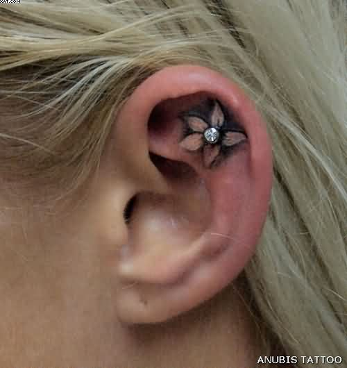 Cool Ear Tattoo For Women