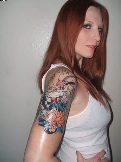 Cool Half Sleeve Women Tattoos