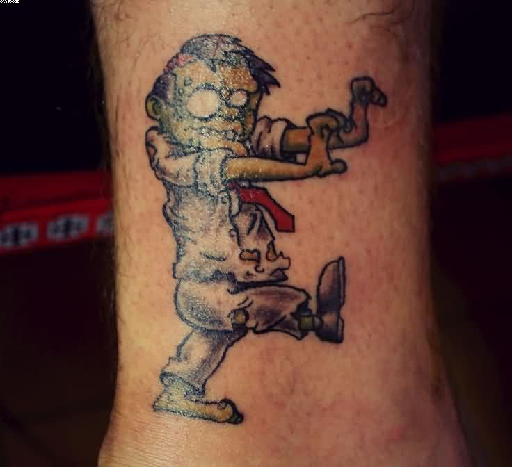 Cute Zombie Kid Tattoo