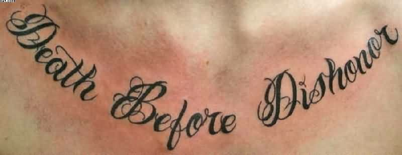 Death Before Dishonor Chest Tattoo Designs