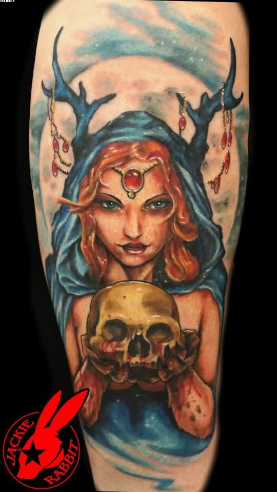 Evil Fairy Queen Zombie Tattoo