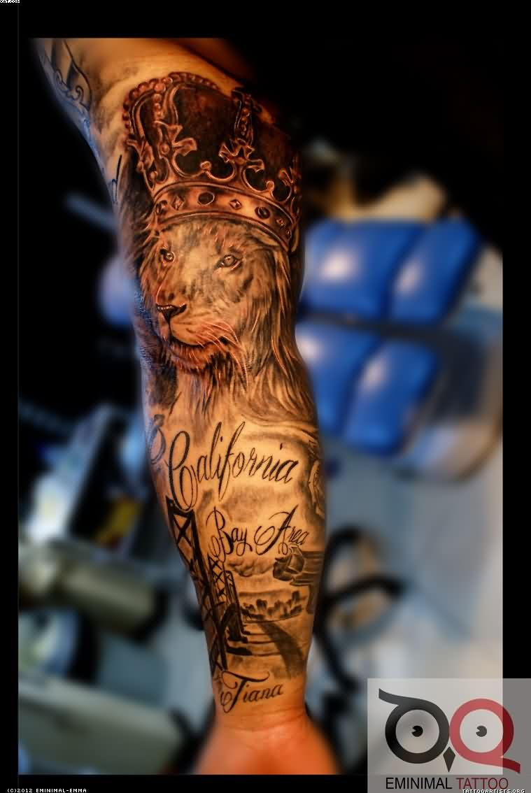 Fantastic Lion King Tattoo On Arm