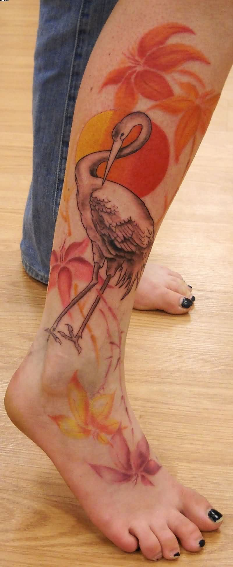 Feminine Duck Leg Tattoo