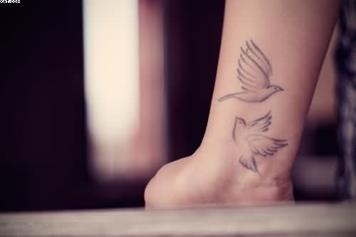 Flying Birds Tattoos On Wrist