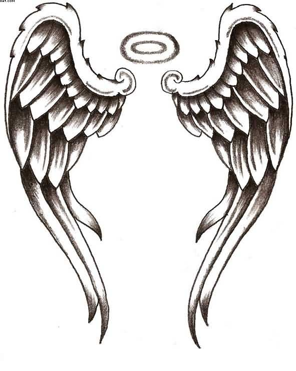 Free Angel Wings Tattoo Design