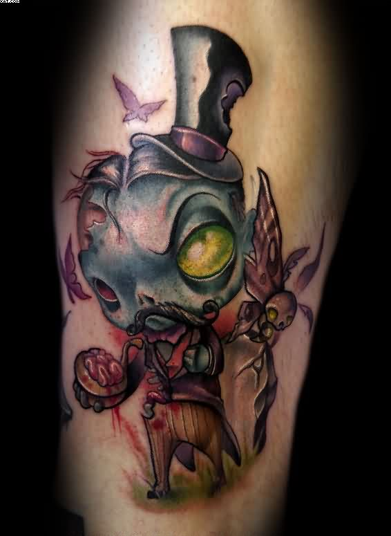 Gentleman Zombie Tattoo