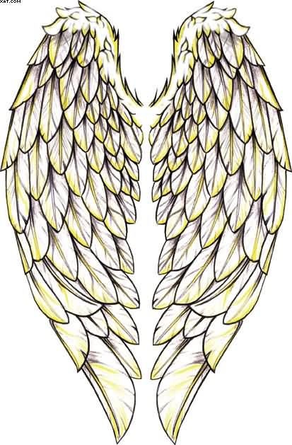 Giant Angel Wings Temporary Tattoo Sample