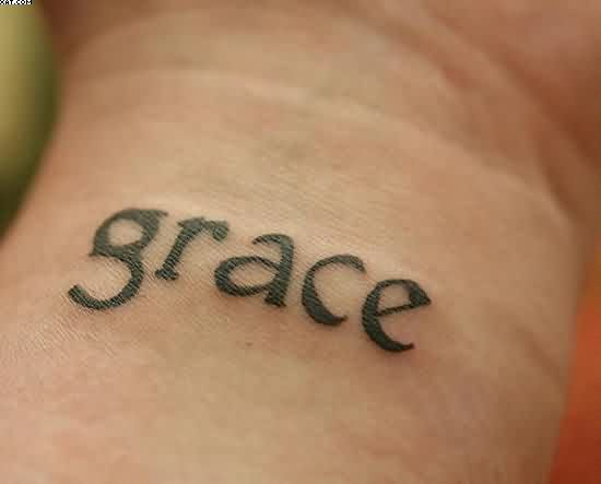 Grace Wrist Tattoo