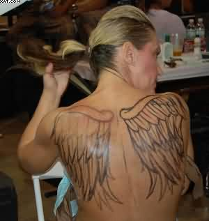 Great Angel Wings Tattoos On Back