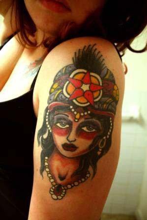 Gypsy Girl Arm Tattoo For Women
