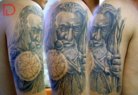 Half Sleeve Wizard Tattoos