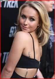 Hayden Panettiere Wording Tattoo On Side