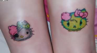 Hello Kitty Pirate Zombie Tattoos