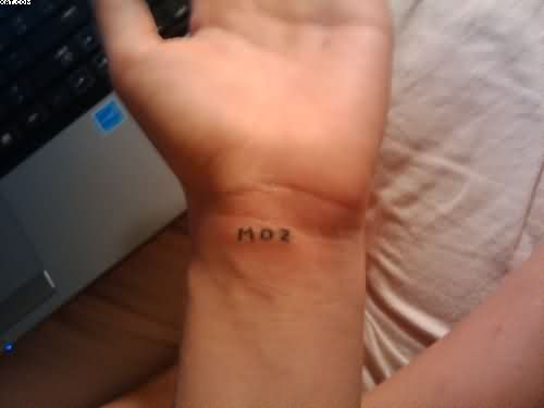 Homemade Text Tattoo On Wrist