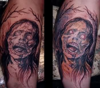 Horror Zombie Tattoos